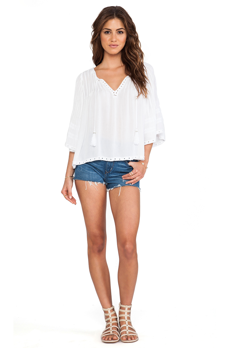 Tularosa Huxley Top in White from REVOLVEclothing.com