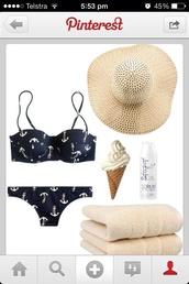 swimwear,bikini,cute,black,ancor,cheeky,underwire,underwire bikini top,beach