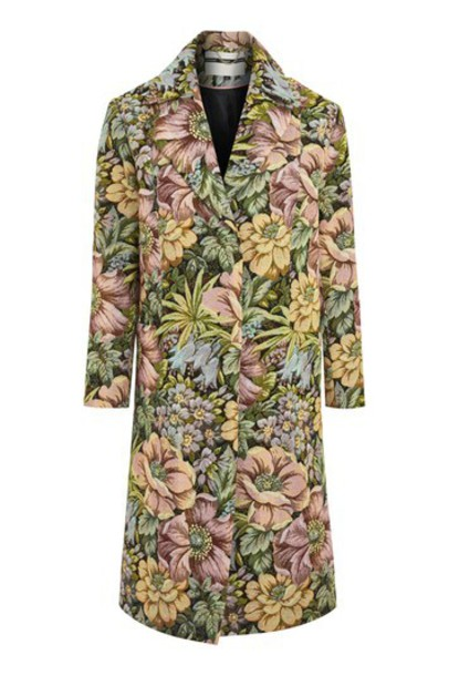 Topshop coat tapestry floral