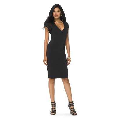 Women's Short Sleeve V-Neck Sheath Dress