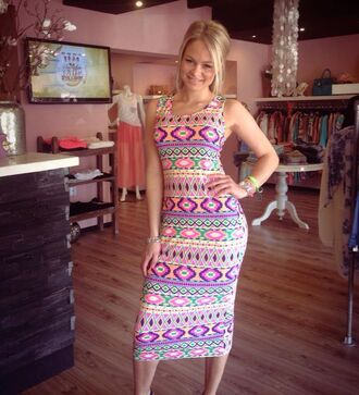 dress tribal print dress colors long dress fluro