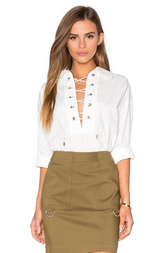 blouse white white blouse white shirt lace up lace up blouse lace up shirt back to school