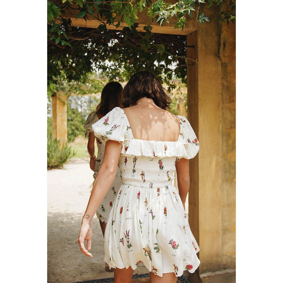 VG Spanish Sunsets Frill Mini Dress // Floral