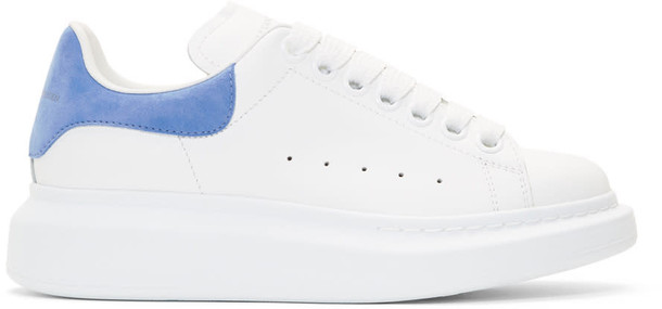 Alexander Mcqueen oversized sneakers white blue shoes
