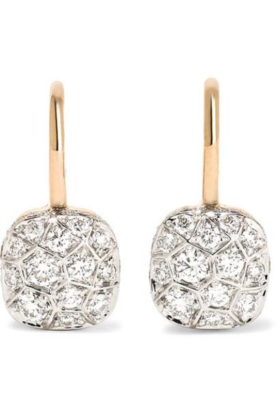 Pomellato rose gold rose earrings gold jewels