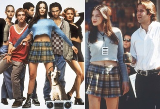 sweater liv tyler fuzzy sweater light blue plaid skirt top blouse