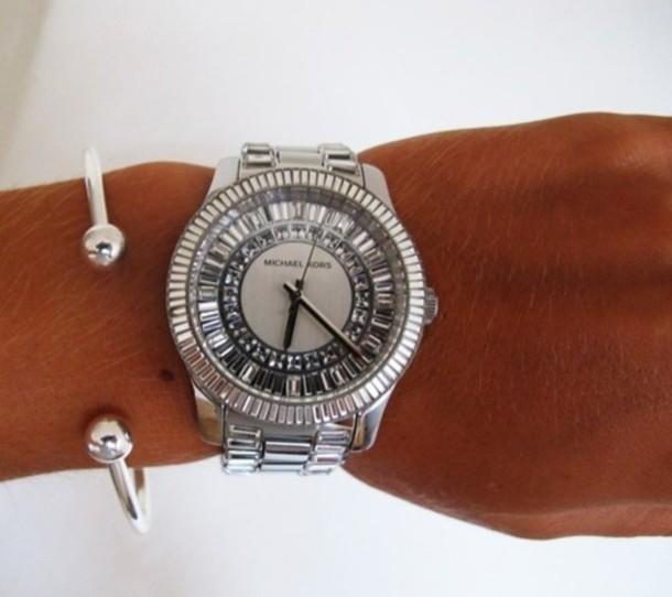 jewels watch michael kors silver accessories nail accessories