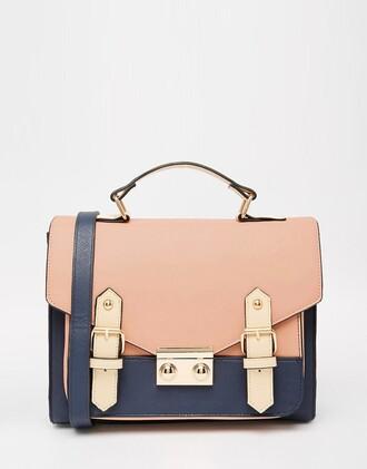 bag pink bag satchel bag back to school school bag leather bag messenger bag pastel bag gift ideas