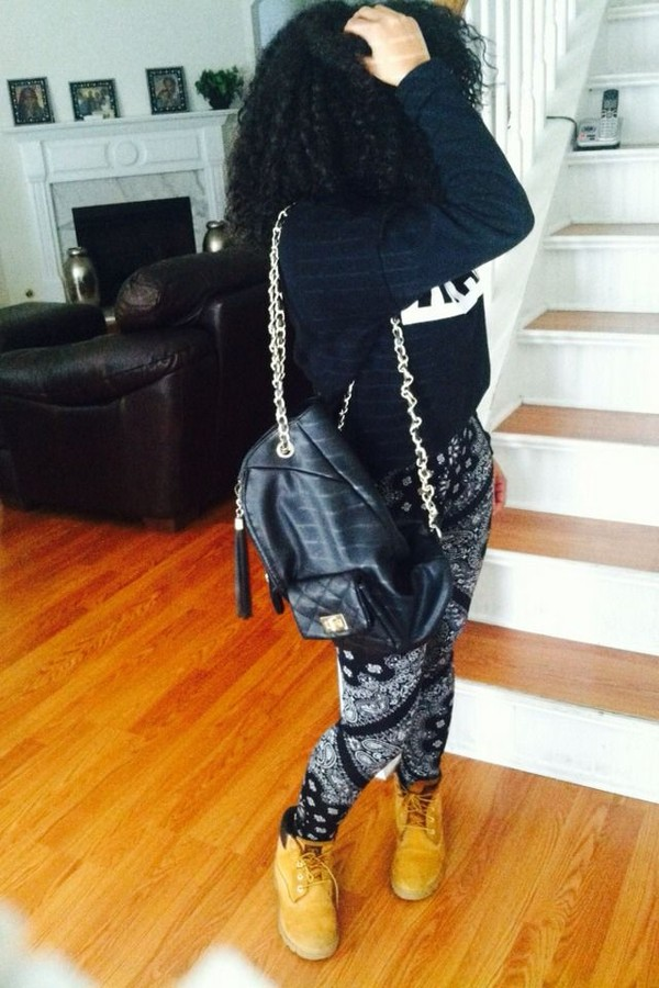 pants bandana timberlands sweater bag blouse