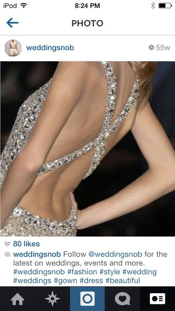dress silver sequin dress open back long prom dress