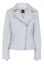 Becky bubble faux leather jacket