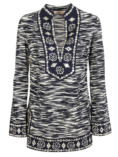 Tory Burch tunic embroidered top
