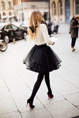 skirt black short tulle skirt