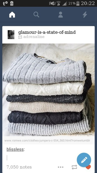 sweater grey sweater white sweater