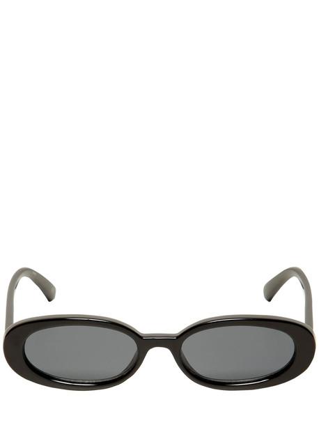 LE SPECS Outta Love Oval Sunglasses in black