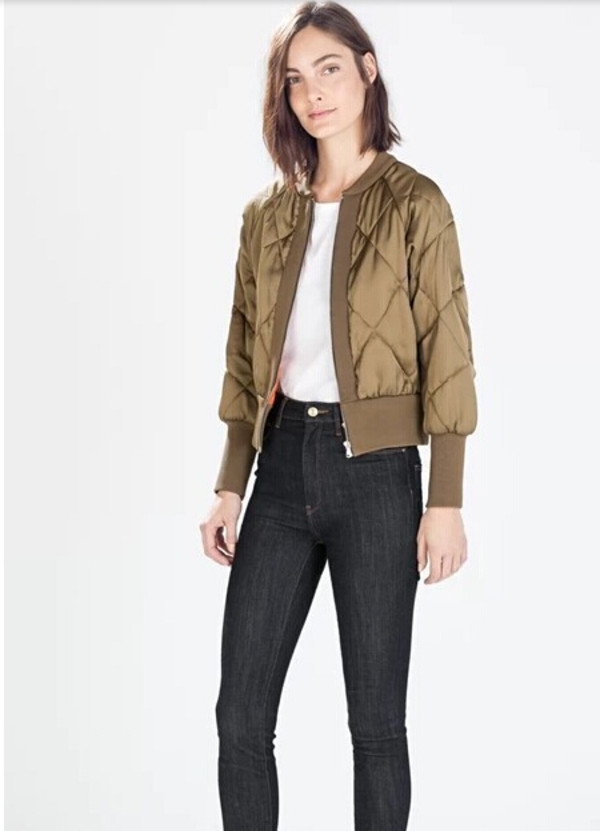 jacket army green jacket bomber jacket short jacket khaki bomber jacket
