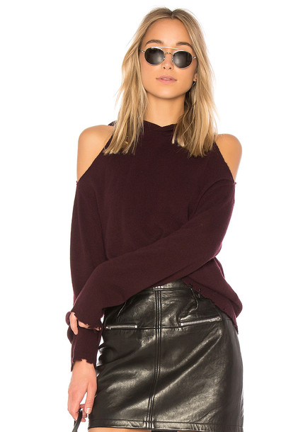 hoodie burgundy sweater