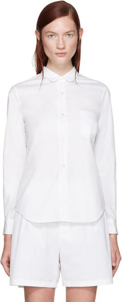 Comme Des Garçons White Classic Shirt