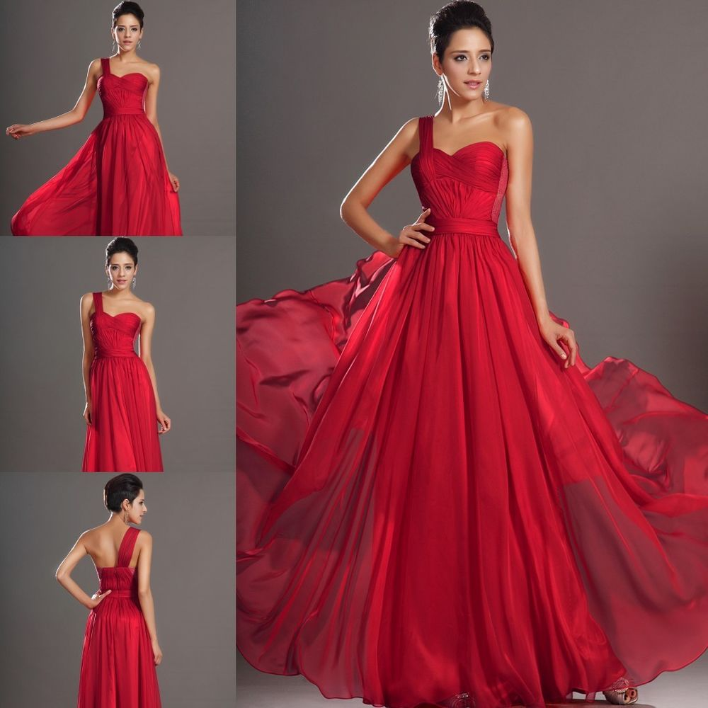 Red Bridesmaid Dresses Ebay Uk