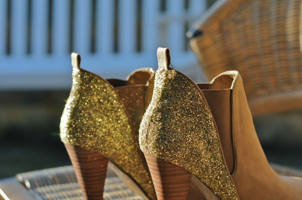 Le.fanciulle: diy sparkly boots