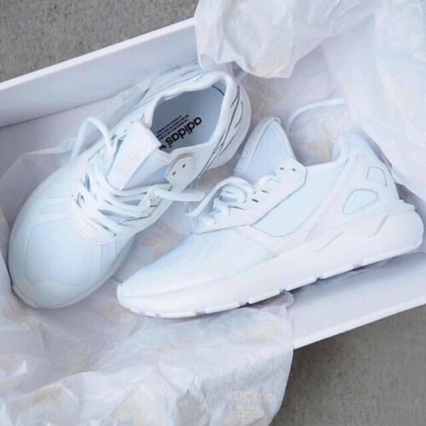 adidas tubular trainers white