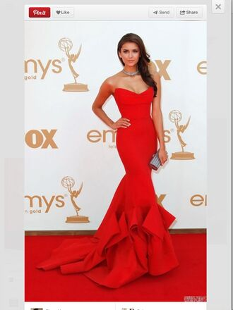 Nina Dobrev Red Dress - Shop for Nina Dobrev Red Dress on Wheretoget