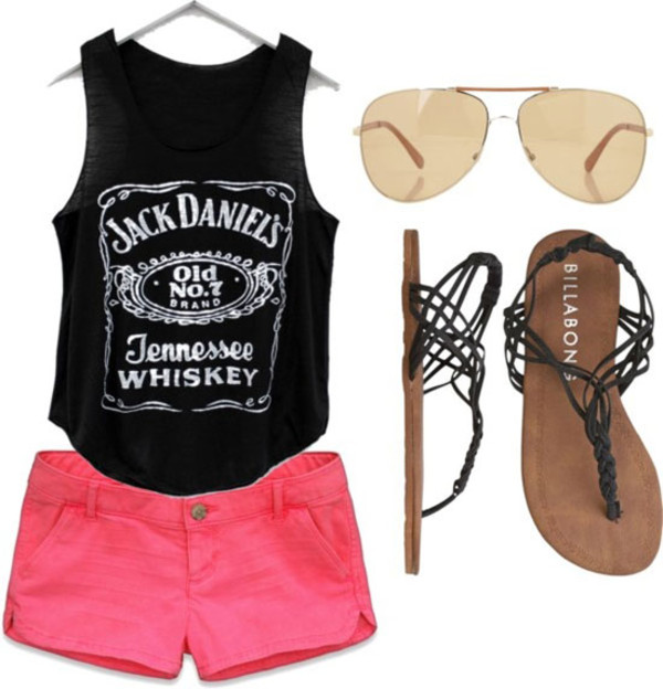 tank top black girl muscle shirt jack daniel's