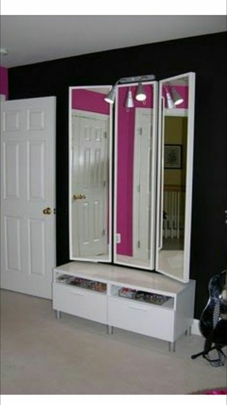 hair accessory mirror drawer room accessoires rooms