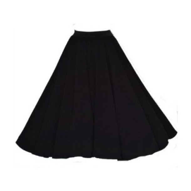 black skirt 50s style circle skirt midi skirt