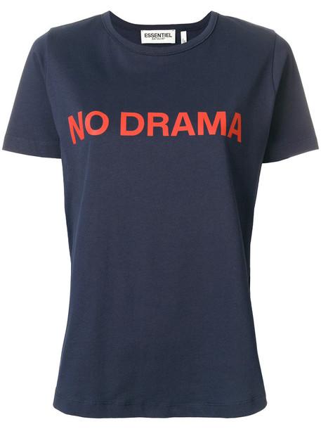 ESSENTIEL ANTWERP t-shirt shirt t-shirt women cotton blue top
