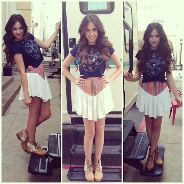 skirt ryan newman t-shirt