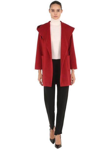 MAX MARA Rialto Hooded Camel Coat in red