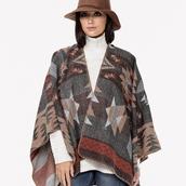 sweater,poncho,boho,bohemian,tribal pattern,aztec,fa,fall outfits,wrap,lovestitch,fashion