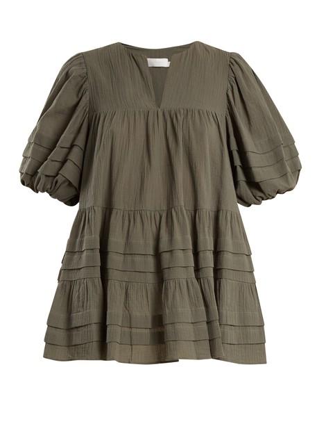 Zimmermann top cotton khaki
