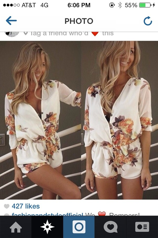 dress floral floral romper flowers spring outfits blouse romper party short print vintage