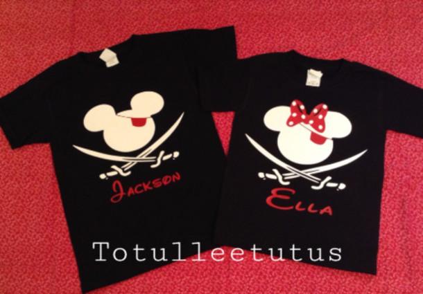 T Shirt Disney Pirate Disney Mickey Disney Minnie