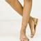 Strappy wrap around ankle sandal - black