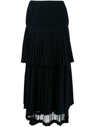 skirt pleated skirt pleated draped black
