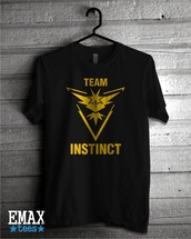 shirt,team instinct,pokemon,pokemon go,t-shirt,team,top,outfit,tumblr,google play,google shirt,quote on it