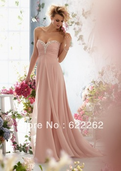 New Arrival A Line Sweetheart Sleeveless Floor Length Chiffon Beads White Pearl Pink Beach Wedding Dresses Bridal Dresses-in Wedding Dresses from Apparel & Accessories on Aliexpress.com