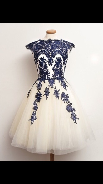 dress navy white lace prom prom dress short prom dress short cheap