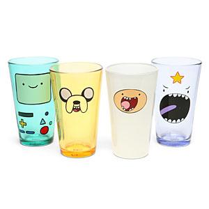 ThinkGeek :: Adventure Time Face Pint Glass Set