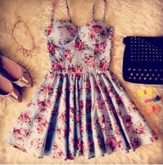 dress floral dress colorful dress bustier dress bustier pretty pastel