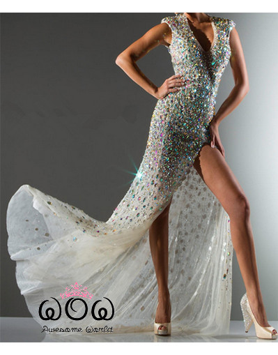 Sparkle crystal diamond dress