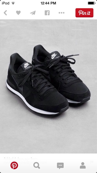 shoes black nike shoes nike dark