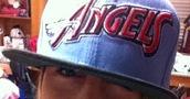 hat,angels,snapback,blue,red