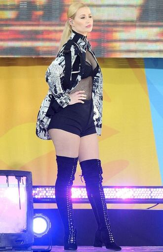 top iggy azalea boots mesh mesh top see through jacket