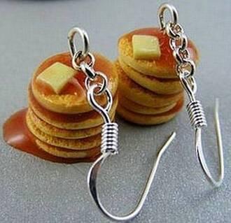 jewels pancakes earrings breakfast