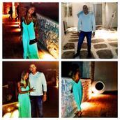 dress,neon,green,blue,maxi,maxi dress,evening outfits,mornings,summer,beautiful