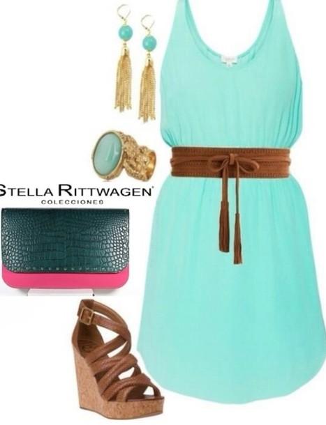 dress blue green